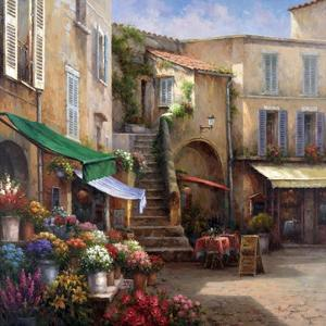 Flower Market Courtyard by Han Chang