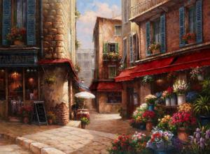 Flower Market Lane by Han Chang