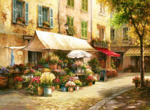 The Flower Market by Han Chang