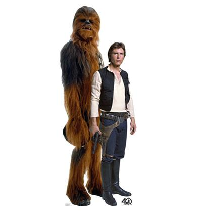 Han Solo & Chewbacca - Star Wars 40th Anniversary