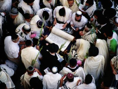 Priestly Blessing Ceremony by the Western Wall at Succot by Hanan Isachar