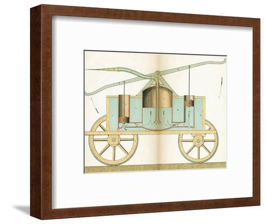 Hand Pump Fire Engine--Framed Giclee Print