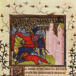 Hand-To-Hand Fighting with Swords in Defence of a Castle, 14th Century