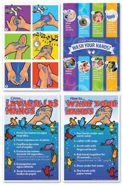 Hand Washing Poster Set of 4