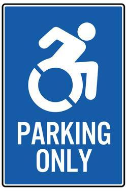 Handicapped Parking Only New Symbol Sign Poster
