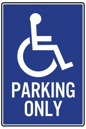 Handicapped Parking Only Plastic Sign
