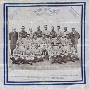 Handkerchief to Commemorate Birmingham City Reaching the Fa Cup Final in 1931