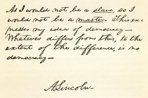 Handwriting and Signature of Abraham Lincoln