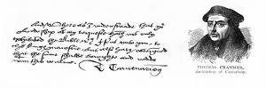 Handwriting and Signature of Archbishop Cranmer from a Letter to Thomas Cromwell, Thanking Him…