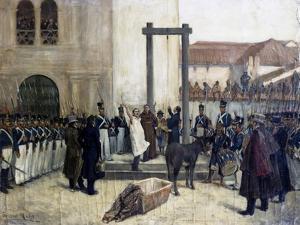 Hanging of Patriot Pedro Domingo Murrillo