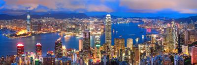 Hong Kong Sunset Panorama by hangvisual