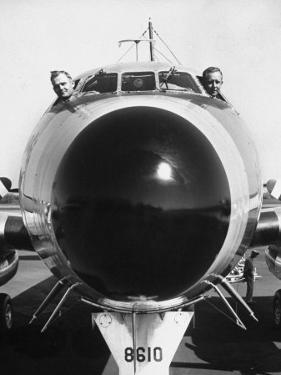 President Dwight Eisenhower's Plane, Columbine, with Pilots Lt. Col. William Drape and Mjr. Thomas by Hank Walker