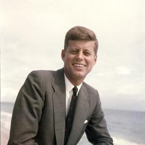 Senator John F. Kennedy Portrait, 1957 by Hank Walker