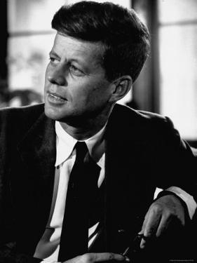 Senator John F. Kennedy, Posing For Picture by Hank Walker