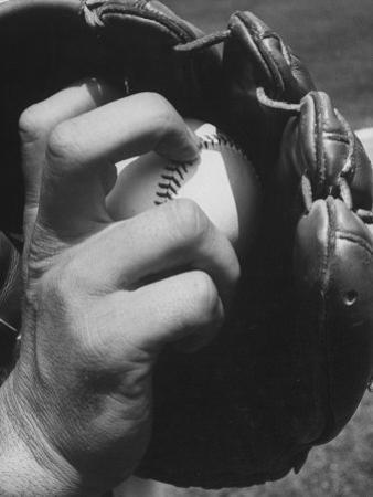 View of a Basball and Mitt by Hank Walker