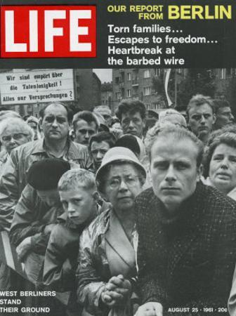 West Berliners Stand their Ground, August 25, 1961 by Hank Walker