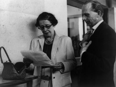 Hannah Arendt with a Fellow Reporter
