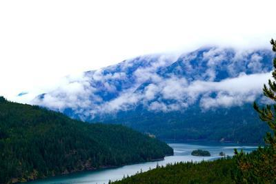 Foggy Afternoon In The Pacific Northwest Looking At Diablo Lake In North Cascades National Park, Wa