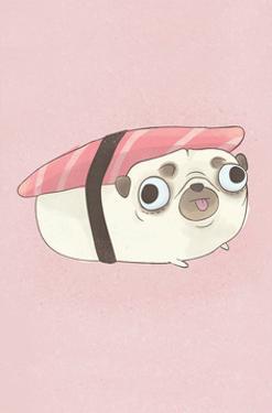 Pug - Hannah Stephey Cartoon Dog Print by Hannah Stephey