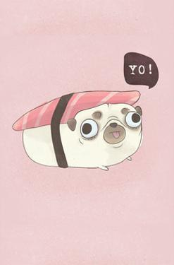 Yo! - Hannah Stephey Cartoon Dog Print by Hannah Stephey