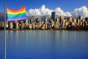 Gay Pride Flag in Beautiful City of Vancouver, Canada. by Hannamariah