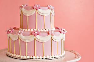 Pink Wedding Cake by Hannamariah