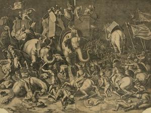 Hannibal's Elephants Attacking Roman Legions