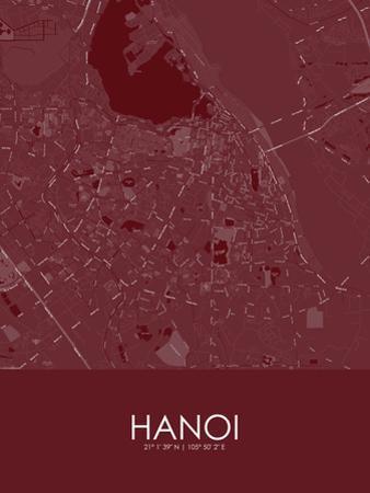 Hanoi, Viet Nam Red Map