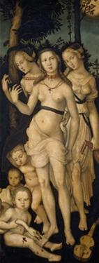 Harmony, or The Three Graces, 1541-1544 by Hans Baldung Grien