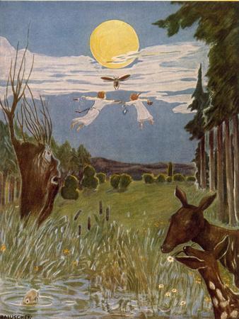 Der Flug nach der Sternenwiese, Illustration, 1928