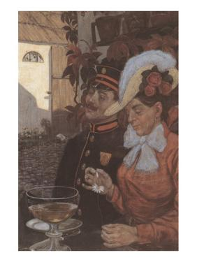 Idyll with Wheat Beer by Hans Baluschek