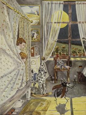 In der Kinderstube, Illustration, 1928 by Hans Baluschek