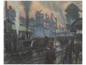 Ironworks by Hans Baluschek