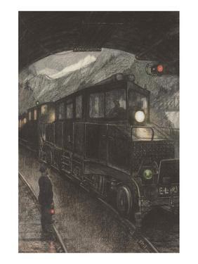 Machine Cycle: Electric Locomotive by Hans Baluschek