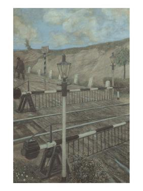 Railway Cycle: Boom Barrier by Hans Baluschek