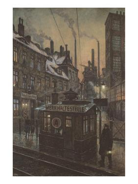Workers Houses by Hans Baluschek