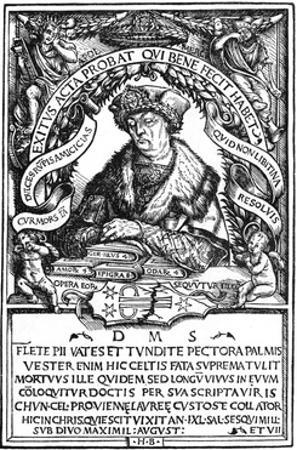 Conrad Celtes by Hans Burgkmair
