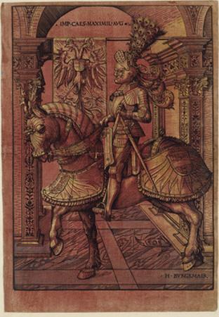 Emperor Maximilian I, Armed on Horseback, 1508 by Hans Burgkmair