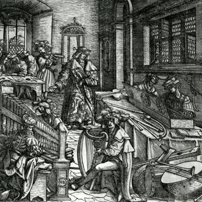 History of Music, from the Novel 'Der Weisskunig' in Praise of His Emperor Maximilian I by Hans Burgkmair