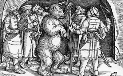 Performing Bear, Germany by Hans Burgkmair