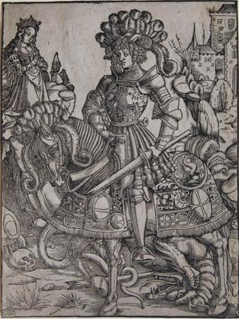 St. George on Horseback, C.1510 by Hans Burgkmair