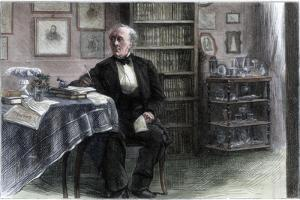 The Late Hans Christian Andersen in His Study, C1850-1875 by Hans Christian Andersen