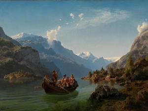 Bridal Journey in Hardanger by Hans Gude