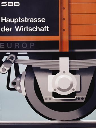 Hauptstrasse Der Wirtschaft Poster by Hans Hartmann