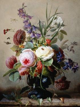A Still Life of Summer Flowers by Hans Hermann