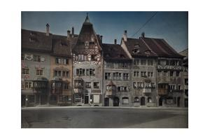 A View of a Row of Townhomes on the Town Hall Plaza in Stein Am Rhine by Hans Hildenbrand