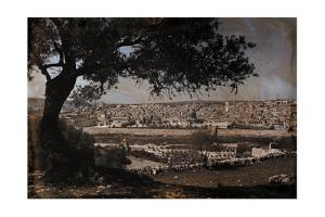 A View of Jerusalem from the Mount of Olives by Hans Hildenbrand