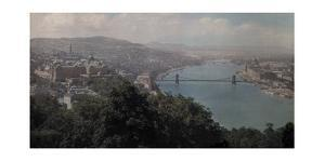 A View of the Danube from the Gellert Monument by Hans Hildenbrand