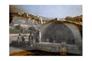 People Draw Water from a Famous Fountain in Nazareth by Hans Hildenbrand