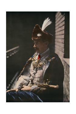 Portrait of a Hungarian in a Historic Costume Worn by the Affluent by Hans Hildenbrand